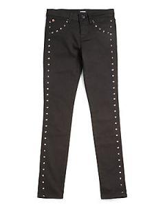 Hudson Girls Studded Dahlia Skinny Jeans   Black