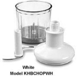 KitchenAid Chopper Attachment for Immersion Blender, White