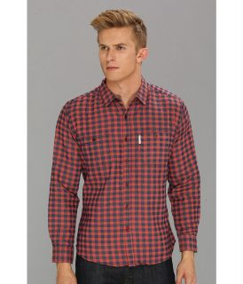 Marc Ecko Cut & Sew Check Yourself L/S Woven Shirt Mens Long Sleeve Button Up (Red)