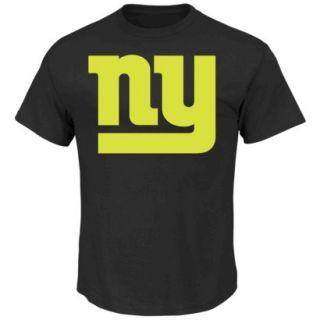 NFL Giants No Idle Threat II Tee Shirt   Black (M)