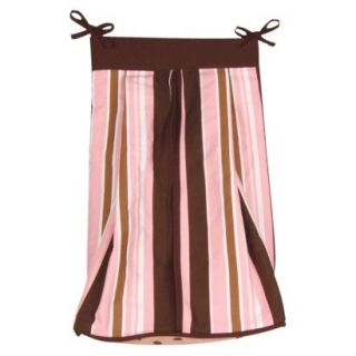 Pink/Brown Maya Diaper Stacker by Lab