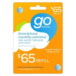 AT&T Mobility $65 Prepaid GoPhone Card