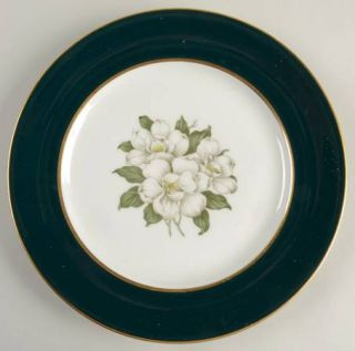 Royal Jackson Countess Madison Teal Green Salad Plate, Fine China Dinnerware   T