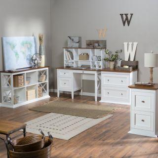 Hayneedle Belham Living Hampton Office Collection   White/Oak   DONU048