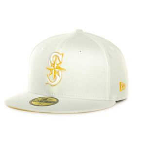 Seattle Mariners New Era MLB White On Color 59FIFTY Cap