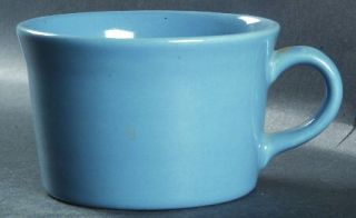 Metlox   Poppytrail   Vernon Colorstax French Blue Flat Cup, Fine China Dinnerwa