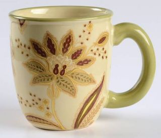 Jaclyn Smith Turkish Floral Ivory Mug, Fine China Dinnerware   Traditions,All Iv