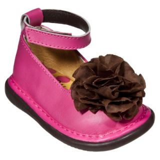 Little Girls Wee Squeak Ankle Strap Shoe   Hot Pink 6
