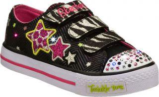 Infant/Toddler Girls Skechers Twinkle Toes Shuffles Wild Starlight   Black/Pink