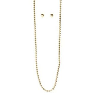 Pearl Earring and Necklace Set   Gold