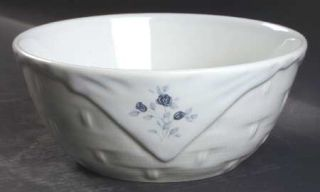Pfaltzgraff Poetry Glossy Basket Bowl, Fine China Dinnerware   Glossy, Newer, Bl