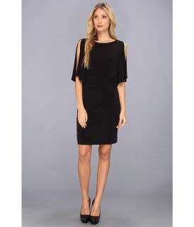 Muse Cold Shoulder Butterfly Sleeve Dress Womens Dress (Black)
