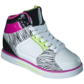 Girls Xhilaration Greta High Top Sneaker Wedge   Black/White 4