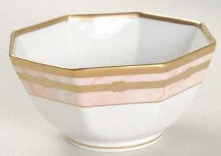 Christian Dior Gaudron Marbre Rose 5 Octagonal Vegetable Bowl, Fine China Dinne