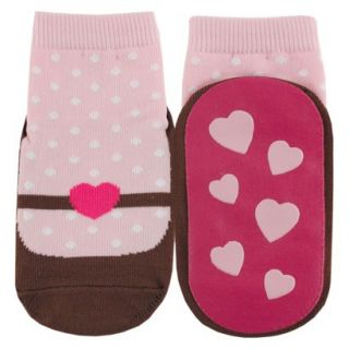Luvable Friends Infant Girls Mary Jane Sock   Pink 0 6 M