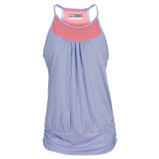 Lija Women`s Banded Contrast Tennis Tank Small Blue