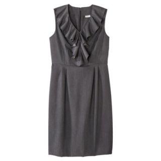 Merona Petites Sleeveless Sheath Dress   Gray 14P
