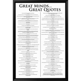 Art   Great Minds Great Quotes Framed Poster