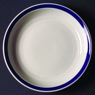 Gibson Designs Basic Living V Cobalt Salad Plate, Fine China Dinnerware   Emboss