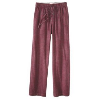 Merona Mens Flannel Sleep Pants   Red/Grey Check L
