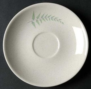 Franciscan Fern Dell Saucer, Fine China Dinnerware   Green & Gray Ferns
