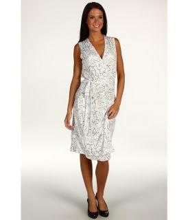 Anne Klein Lion Print Knit Wrap Dress Womens Dress (Multi)