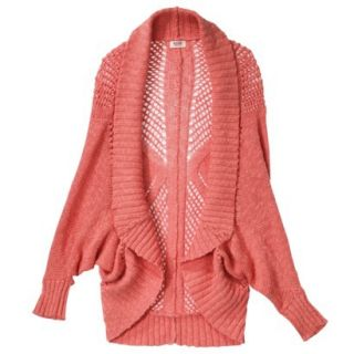 Mossimo Supply Co. Juniors Open Weave Cocoon Sweater   Yam Orange XS(1)