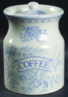 Burgess & Leigh Asiatic Pheasants Blue Coffee Canister & Lid, Fine China Dinnerw