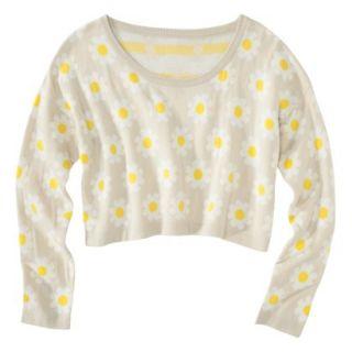 Xhilaration Juniors Daisy Cropped Sweater   Cream XXL(19)