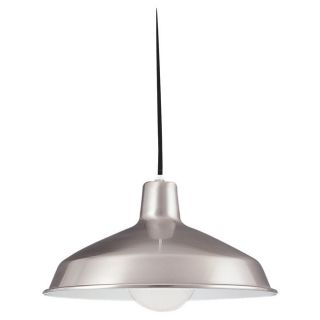 Pendant Single light Brushed Stainless Finish