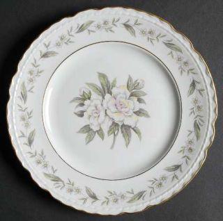 Royal Jackson Fleur De Blanc Salad Plate, Fine China Dinnerware   Pink/Yellow Fl