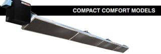 Berner Compact Heater   45,000 60,000 BTU, 15 Reflector, Stainless, Natural Gas