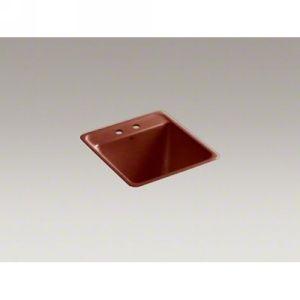 Kohler K 6656 2 RR PARK FALLS Tile In Utility Sink With 2 Faucet Holes