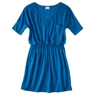 Mossimo Supply Co. Juniors V Neck Elbow Sleeve Dress   Blue Glass Blue M(7 9)