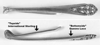 International Silver QueenS Lace (Sterling, 1949) Tie Clip   Sterling, 1949