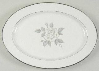 Heinrich   H&C Platinum Rose 14 Oval Serving Platter, Fine China Dinnerware   W