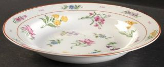 Georges Briard Floral Fantasy Rim Soup Bowl, Fine China Dinnerware   Floral Rim