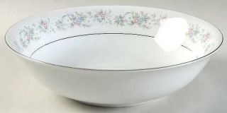 Chadds Ford Cotillion 9 Round Vegetable Bowl, Fine China Dinnerware   Pink, Blu