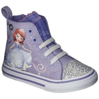 Toddler Girls Sophia The First High Top Sneaker   Purple 7