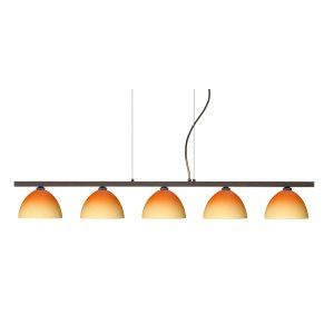 Besa Lighting BEL 5LP 4679OP BR Brella Island Light