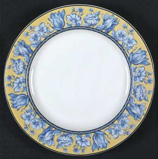 Interiors (PTS) Palace Garden Salad Plate, Fine China Dinnerware   Stoneware,Blu