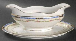 Heinrich   H&C Hc40 Gravy Boat with Attached Underplate, Fine China Dinnerware