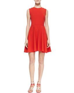 Womens Jeannie Fit and Flare Dress, Chili Pepper   Diane von Furstenberg