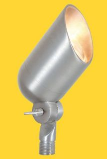 Corona Lighting CL535BSI 50W Low Voltage Brass Bullet Directional Light w/Easy Turn amp; Lock Shroud Silver, 21/2 x 43/4