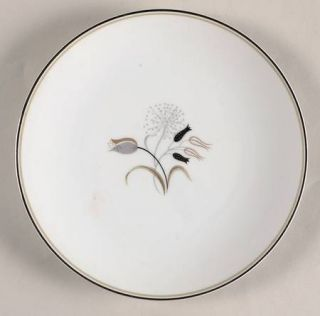 Noritake Jaris Salad Plate, Fine China Dinnerware   Gray/Taupe/Black Flowers On