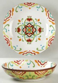 Noble Excellence Mexican Tile Matzalan 10 Round Serving Bowl, Fine China Dinner