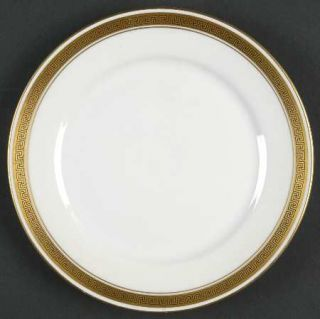 Heinrich   H&C Golden Key Bread & Butter Plate, Fine China Dinnerware   Gold Tri