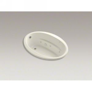 Kohler K 1162 H 96 SUNWARD Sunward 5 Oval Whirlpool With In Line Heater