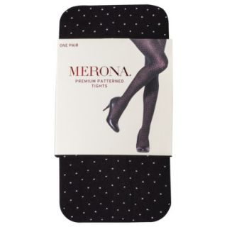 Merona Womens Premium Patterned Tights   Black Opaque S/M