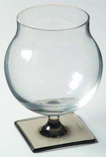 Rosenthal Linear Smoke Brandy Glass   3200, Clear Bowl,Smoke Stem&Square Base
